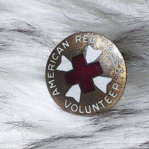 Vintage WWII American Red Cross Volunteer Pin